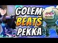 CAN'T BE COUNTERED! Golem Deck That Beats Pekka Decks! — Clash Royale