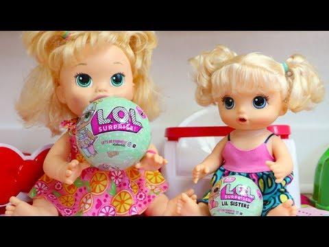 Baby Alive Sara And Sister Emily Open Lol Dolls Series 2