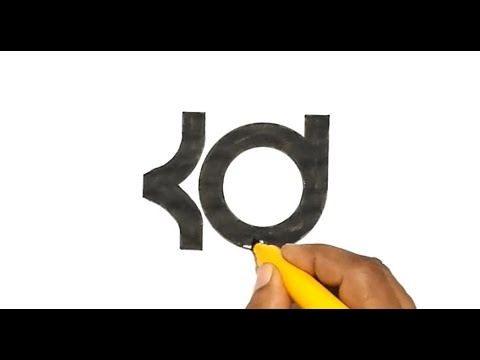 How To Draw The Kd Logo Youtube
