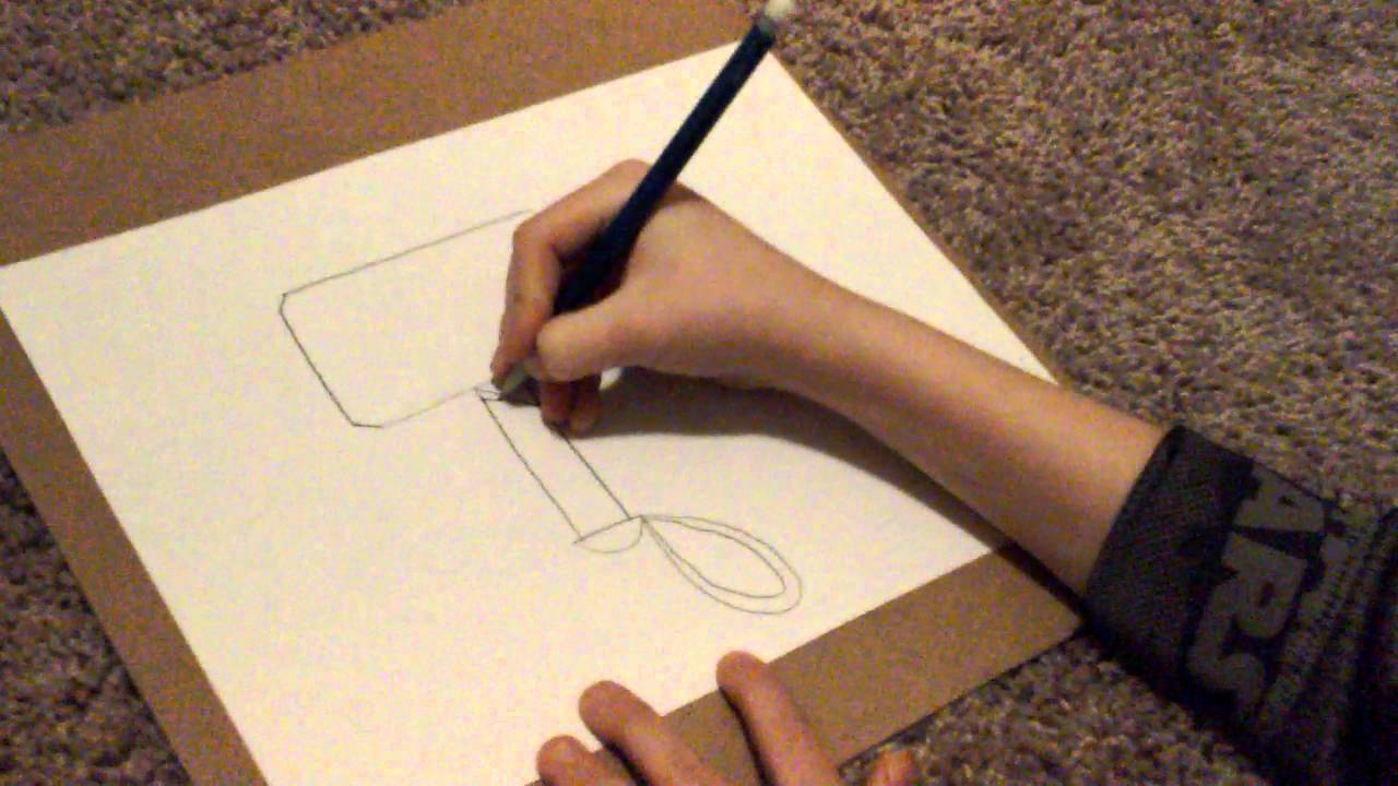 how to draw thor s hammer youtube