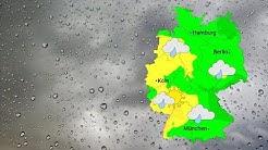 Wetter: Wetterfront mit Wolken und etwas Regen (26.11.2019)