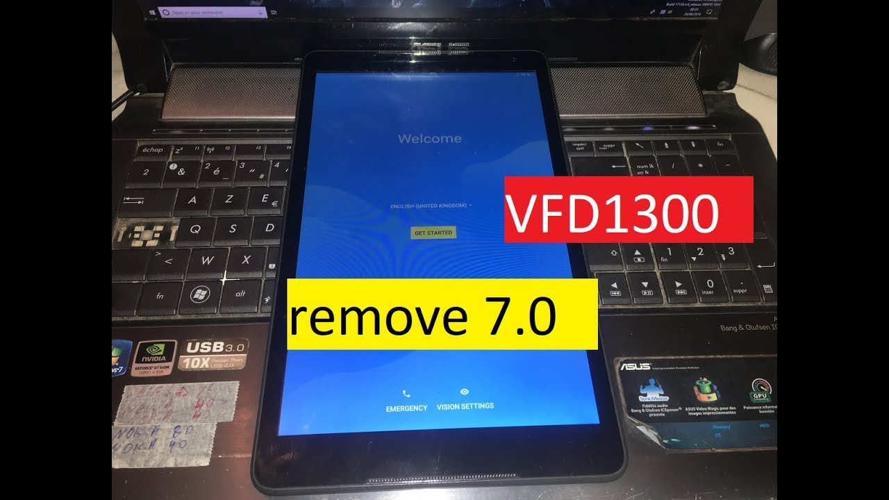 google verification lock remove frp Vodafone Smart Tab N8 VFD1300 LTE  remove 7 0