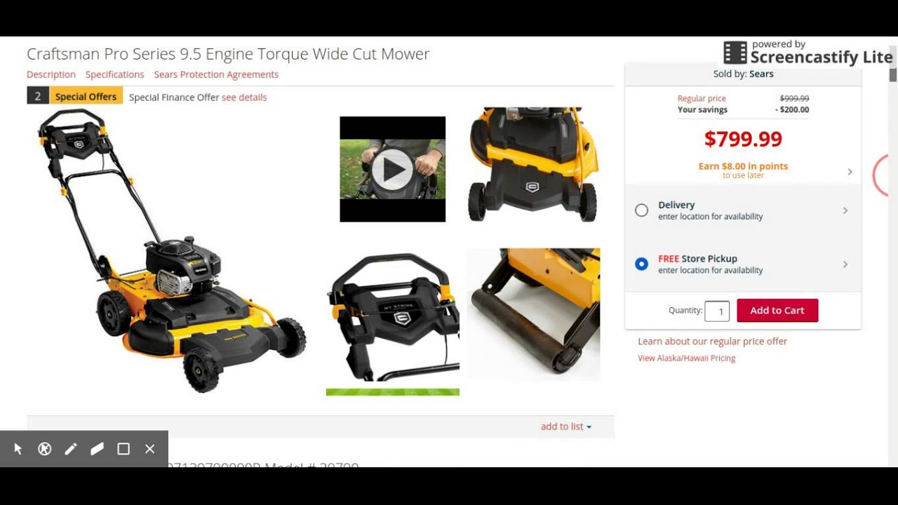 Craftsman Pro Series 28 in Wide Cut Mower