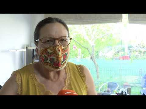 Mercedes A Moura la artesana que elabora mascarillas 28 5 20
