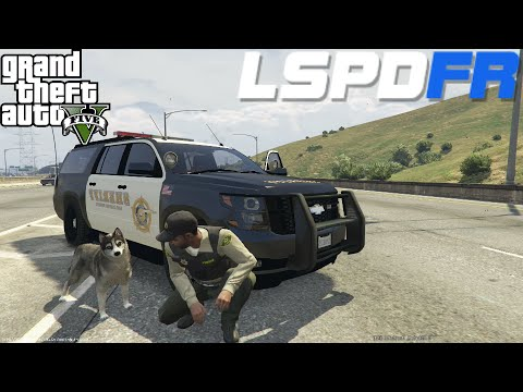 GTA 5 LSPDFR Police Mod Day 35   K9 Dog Patrol With Choppa   Los Santos Sheriff Department Suburban