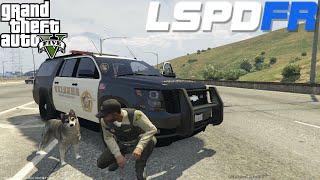 GTA 5 LSPDFR Police Mod Day 35 | K9 Dog Patrol With Choppa | Los Santos Sheriff Department Suburban