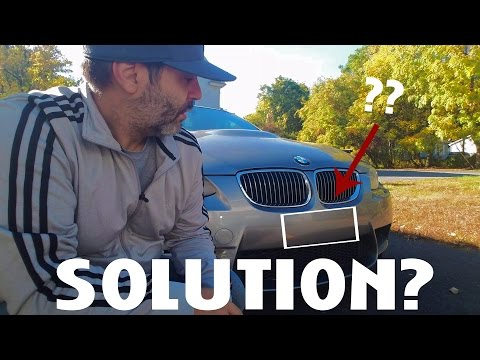 BMW E92 M3 Front License Plate Solution!