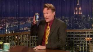 Conan O'Brien drinks Lapin Kulta (Finnish beer)