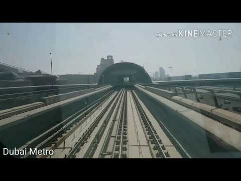 Dubai Metro 2018 | A World Class Metro Train & Station | HD View.
