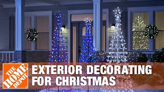 How To Make Decorating Your Home's Exterior For Christmas Easier - The Home Depot