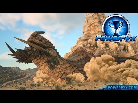 Final Fantasy XV - Adamantoise Boss Fight & Location (Tortoise Toppler Trophy / Achievement Guide)