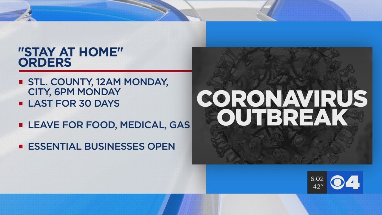 St Louis City County Officials Issue Stay At Home Order Due To Coronavirus Outbreak Youtube