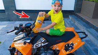 ТИША заправил Данин квадрик и ПИТ-байк ФАНТОЙ.Tucked my brother's  ATV!!!