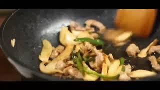 중국의 송이버섯 요리 2. 송이고기볶음 松茸炒肉