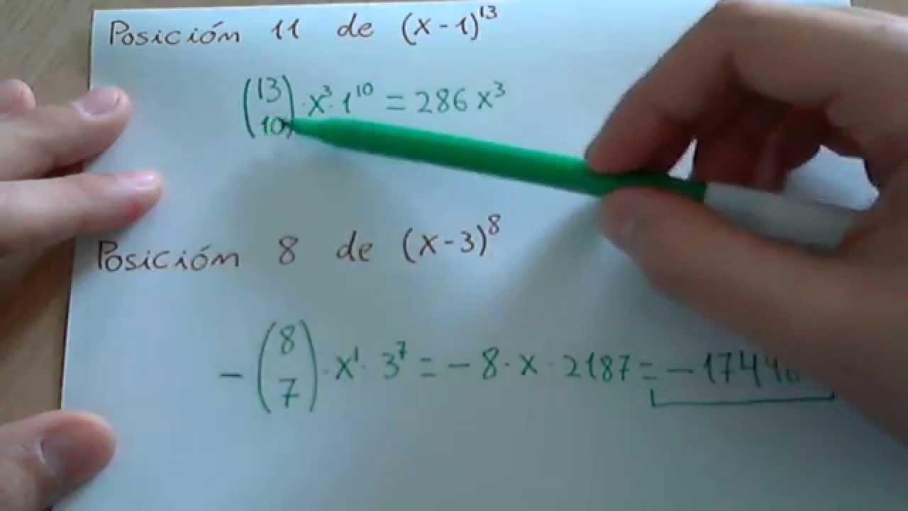 Calcular un término de un binomio de Newton - YouTube