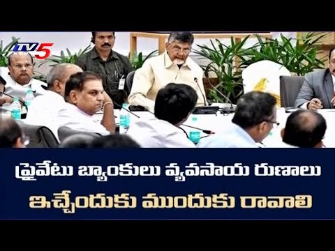 CM Chandrababu Advice to Private Bank Officials | TV5 News