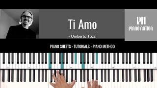 Ti Amo - La Casa De Papel - Umberto Tozzi (Sheet Music - Piano Solo - Piano Cover - Tutorial)