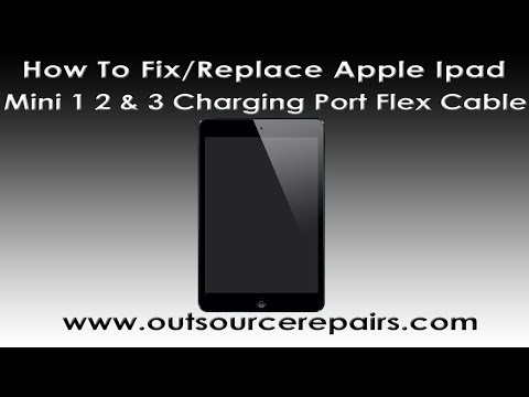 How To Fix Replace Broken Apple Ipad Mini 1 2 3 Charge Port Flex Cable