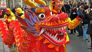 Chinese Lantern Festival Dragon Dance 2016元宵节 royalty FREE music