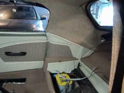Volkswagen Beetle Convertible >> Upholstering the Hinge Covers - VW Karmann Ghia - YouTube