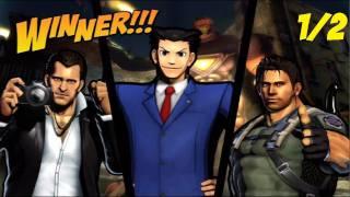 Ultimate Marvel vs Capcom 3 Arcade Mode (Phoenix Wright, Frank West, Chris Redfield Pt. 1/2)