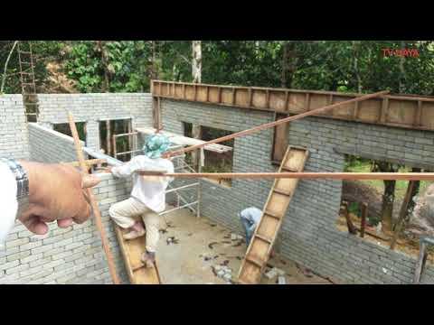 Cara Bina Rumah Kebun Vokasional 13 Cara Konkrit Rasuk Atas Roof Beam Youtube