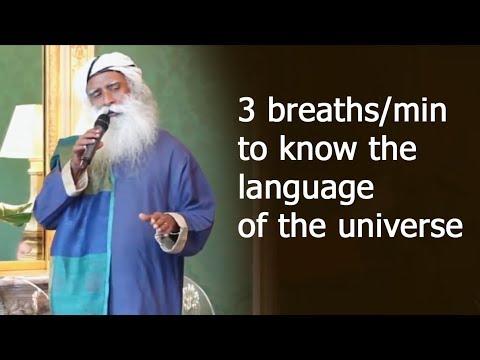 3 breaths to know the language of the universe   Yogic dimention   Sadhguru
