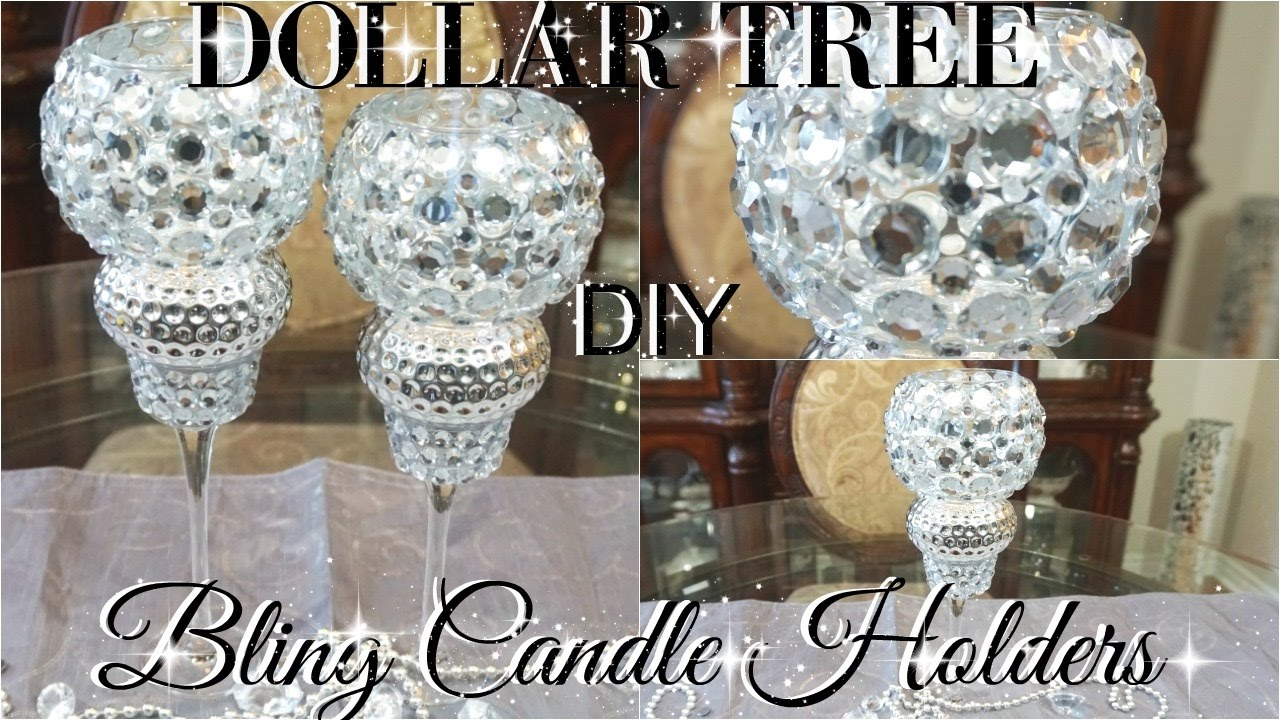 Diy Dollar Tree Bling Wedding Candle Holders Petalisbless