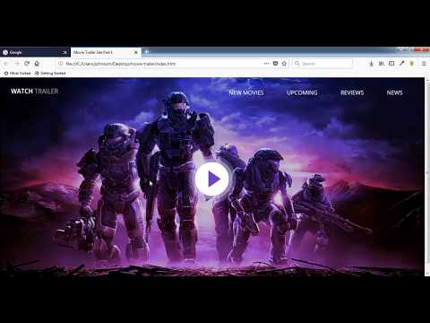 How To Create A Movie Trailer Site Using Html,css,jquery Part 1