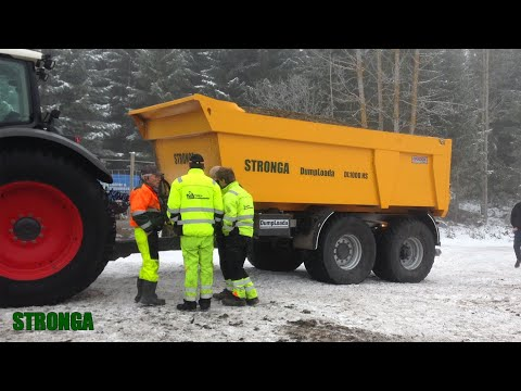 #StrongaInScandinavia – Traktor & Gravemaskindrift's fleet of Stronga trailers in Frozen Norway