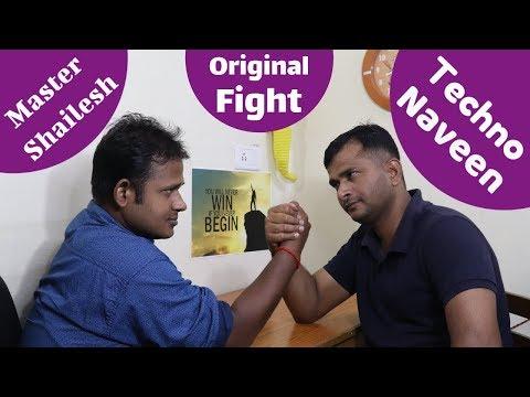 Arm wrestling Fight With Techno Naveen   Taekwondo vs Technology