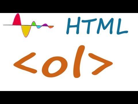 HTML  Ol (ordered List)  Element