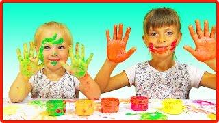 Как рисовать ПАЛЬЧИКОВЫМИ КРАСКАМИ  Развлечение для детей и не только(Первый раз рисуем пальчиковыми красками. Забавное развлечение для детей и не только. Смотри и другие видео..., 2016-09-01T07:00:01.000Z)