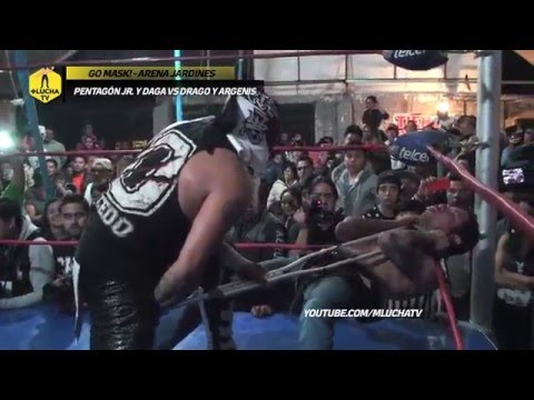 Pentagón Jr. y Daga vs Drago y Argenis, en Go Mask!