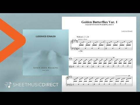 Golden Butterflies Var. 1 Sheet Music - Ludovico Einaudi - Piano Solo (Seven Days Walking: Day 5)