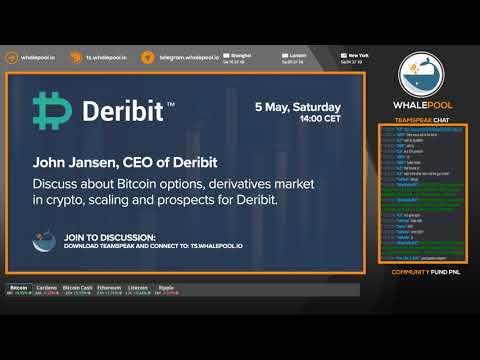 Deribit CEO John Jansen gives talk to Whalepool on deribit options, futures, and bitcoin