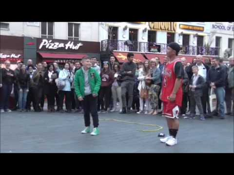 Japanese Street Performers in Leicester Square London UK 2016