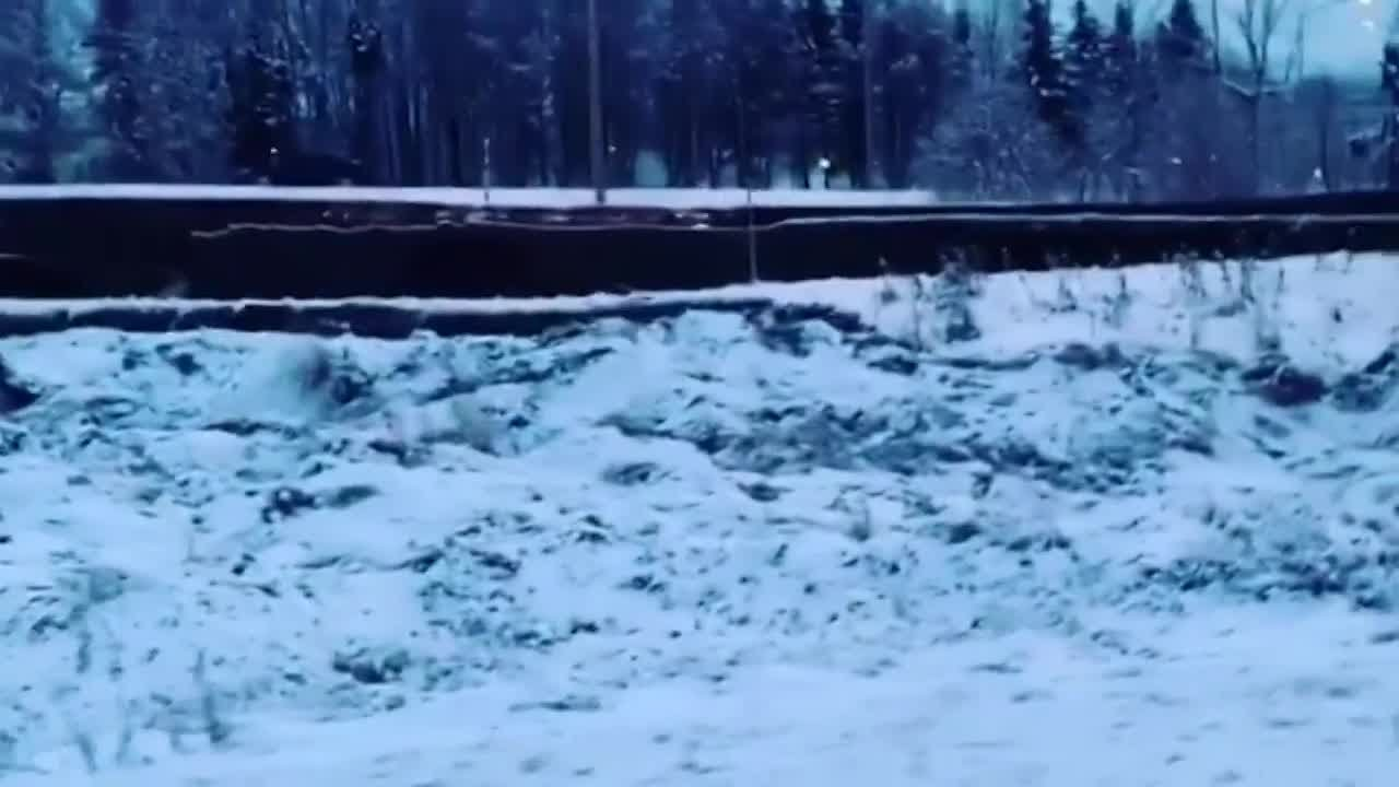 Road collapsed after Alaska quake