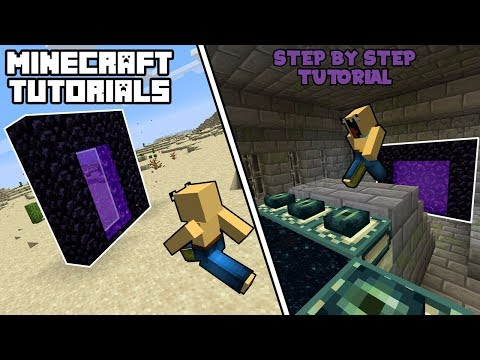 Minecraft 1.15+ - How To Link Your Nether Portals Easily! (Step By Step Tutorial)