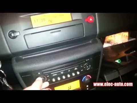Lire des  sur clé USB ou carte SD avec l'autoradio d'origine  CITROEN C4 AUTORADIO RD4