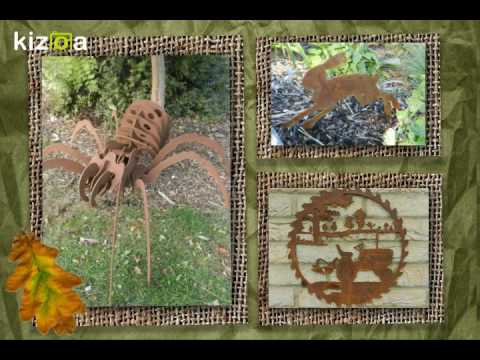 Rusty Rooster - British Rusty Metal Garden Art - www ...