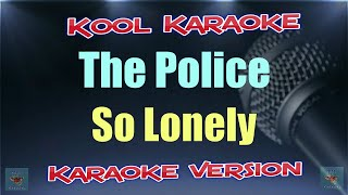 Gambar cover The Police - So Lonely (Karaoke Version) VT