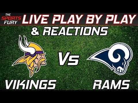 Minnesota Vikings vs Los Angeles Rams | Live Play-By-Play & Reactions