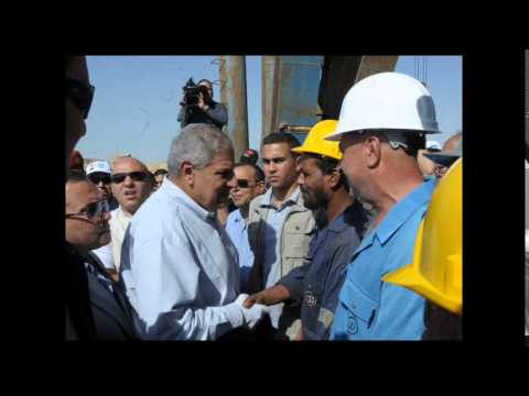 "Photos ""the new Suez Canal,"" the visit of Prime Minister Ibrahim Mahlab October 7, 2014"