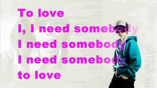 justin bieber somebody to love (letrakareoke)