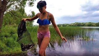 Рыбалка в непогоду - платный пруд Россохи в Минской области (Логойский р-н., 29.06.2017 г.)