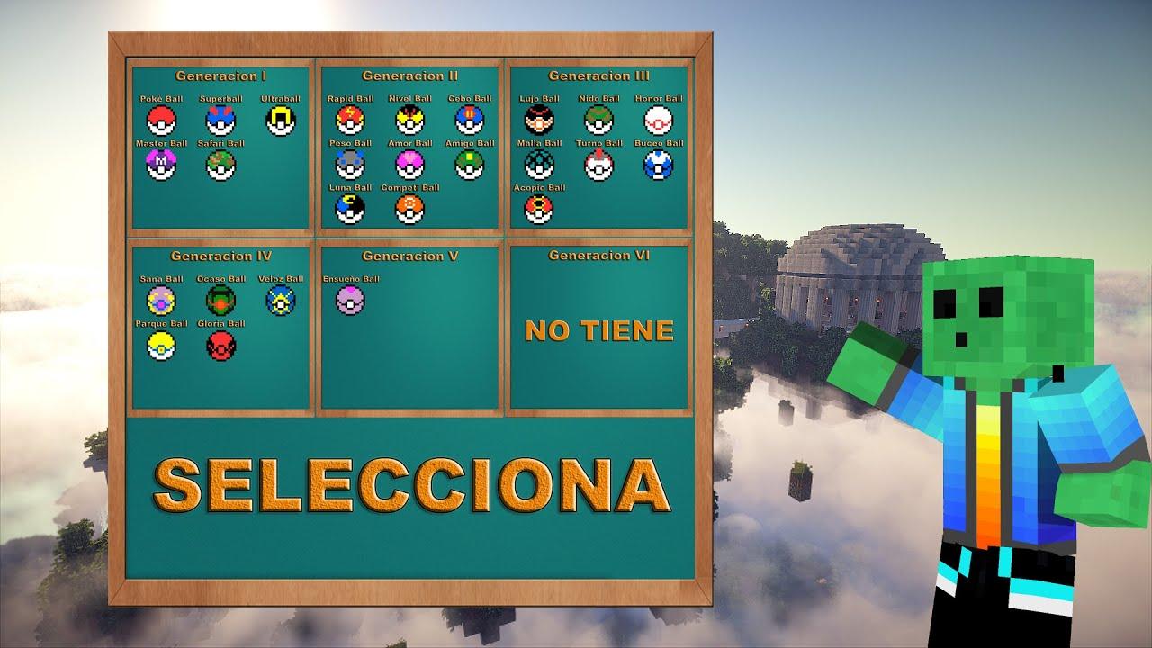 Minecraft 110 Videojuegos: Pokeballs Videojuegos - Seleccion