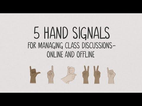 Using Hand Signals For More Equitable Discussions Edutopia