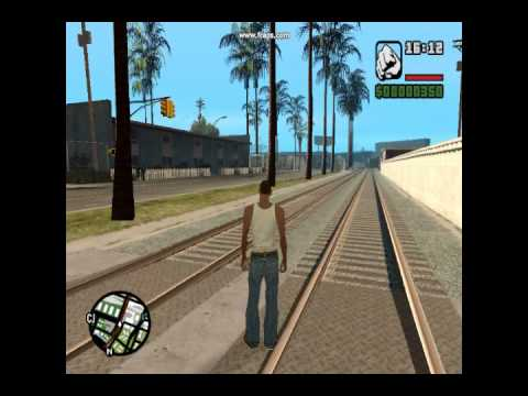 how to get train in gta san andreas