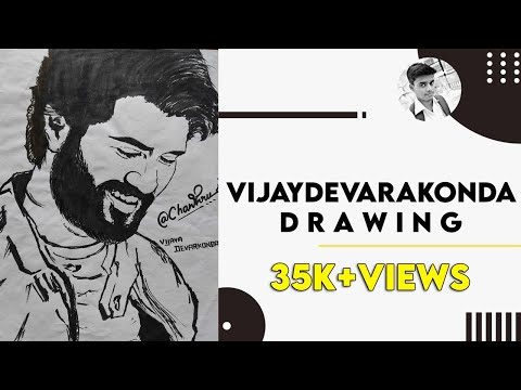 Vijay devarakonda drawing/inkem inkem drawing